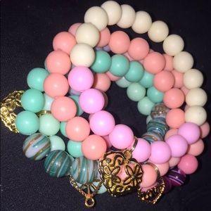 Multicolored Matte beaded bracelets
